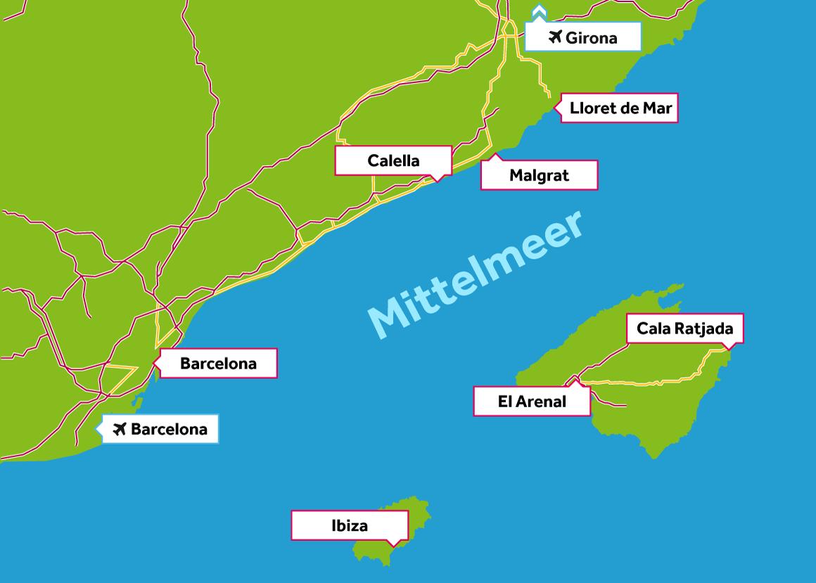 Cala Ratjada Karte.Jugendreisen Spanien 2020 Gunstig Online Buchen