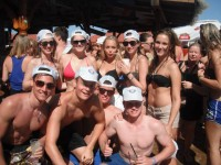 Partyurlaub 2015 am Goldstrand - Gruppe - Schaumparty