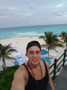 Selfie am Spring Break Strand Cancùn
