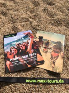 Vorder- und Rückseite Abireisen Katalog