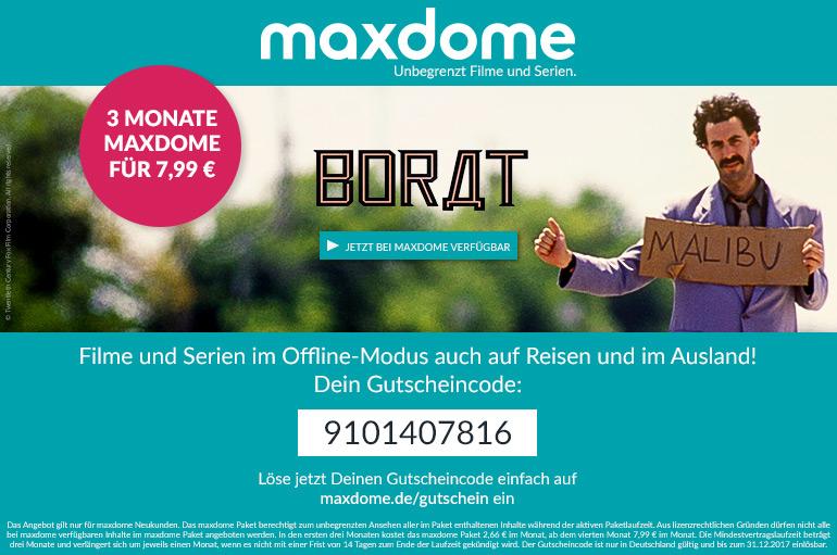 Streaming Angebot bei maxdome Mit diesem Code erhältst du 3 Monate gratis